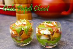 Cocktail size Dahi papdi chaat | Delhi chaat - By crazy4veggie.com