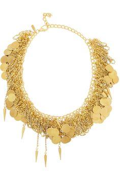 VICKISARGE After The Goldrush gold-plated Swarovski crystal necklace NET-A-PORTER.COM