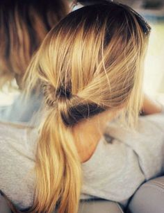 I used this style a lot when my hair was a little shorter. At just the right hair length you can hide the (short) ponytail inside the inverted portion and it'll look like a lower chignon! Ponytail Hairstyles, Pretty Hairstyles, Hairstyle Ideas, Hipster Hairstyles, Style Hairstyle, Summer Hairstyles, Newest Hairstyles, Pink Hairstyles, Travel Hairstyles