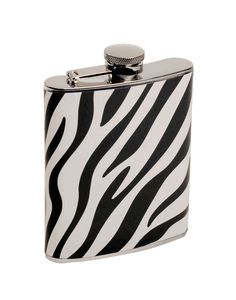 Wild Woman Zebra Print Flask - All The Flasks We Carry