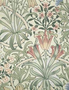 Woodland Weeds Mini by William Morris Old Wallpaper, Wallpaper Samples, Pattern Wallpaper, Bathroom Wallpaper, William Morris Patterns, William Morris Art, Art Decor, Decoration, Geometric Quilt