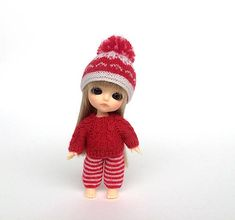 Lati White bjd Christmas outfit miniature doll clothes for