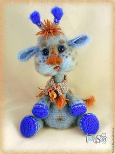 Купить Жирафик Мотя - жираф, жирафик, вязанный жирафик, подарок маме, подарок подруге