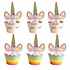 Unicorn Cake Toppers Cupcake Decoration – Inspirational Clothing and Accessories Unicorn Cupcakes, Unicorn Cake Topper, Raspberry Smoothie, Apple Smoothies, Cupcake Decoration, Cake Decorations, Unicorn Party Supplies, Zucchini Cake, Angel Cake