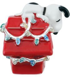 3124ccd91 Zales: Persona® Sterling Silver Peanuts® Multi-Color Enamel Snoopy on House  with Lights Bead