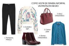 Cómo Vestir de Manera Informal un Pantalón Negro • YohanaSant Asesoría de Imagen & Personal Shopper www.yohanasant.es #HowToWear #look