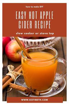 Apple Cider Drink, Mulled Apple Cider, Warm Apple Cider, Hot Apple Cider Cocktail, Hot Spiced Cider, Best Apple Cider, Apple Cider Recipe Crock Pot, Apple Recipes, Apple Cider Mulling Spices Recipe