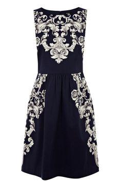 Scroll Print Dress