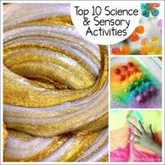 The best sensory and science activities for kids from 2015