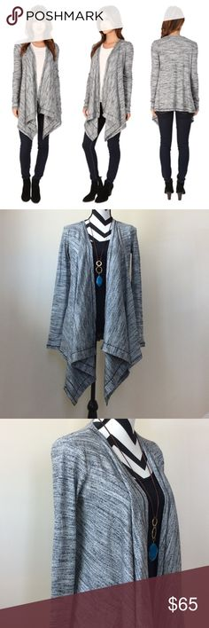 """Three Dots Savannah open cardigan Three Dots Savannah open cardigan. Gorgeous wardrobe staple. Perfect layer for any outfit. Relaxed fit. Open front with draped detailing. Long sleeves. 83 rayon 8 polyester 7 cotton 2 spandex. Size small measures approx 28"""" long. NWT, never worn. Various sizes available. Three Dots Sweaters Cardigans"""