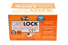 """25 Pack Gridlock Dog Housetraining Pads, Extra Large, 27.5"""" x 35.5"""" ** More info could be found at the image url. (This is an affiliate link and I receive a commission for the sales)"""