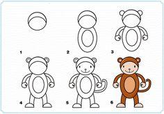 Imprimir o passo a passo para aprender a desenhar os animais