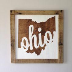 Ohio State Map Painting Osu Buckeyes Ohio By Lifeonthehomestead