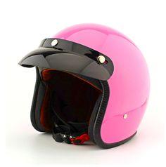 FF #08 Vintage ABS Motorrad Helm Roller Casco Off Road offenes Gesicht Motorbicycle voller Glanz rosa Helm & mit UV Brille Erwachsene(China (Mainland))