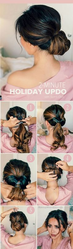 Magnificent HOW TO: 2-MINUTE ELEGANT HOLIDAY UPDOS The post HOW TO: 2-MINUTE ELEGANT HOLIDAY UPDOS… appeared first on Hairstyles .
