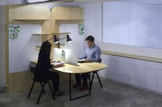 multifunctional workspace | Seeds Office by Samuel Wilkinson - view of one of the desk