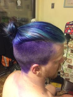 Merman hair on my brother