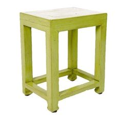 Lacquered Elmwood Green Side Stool Table - $435 Est. Retail - $305 on Chairish.com