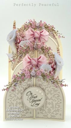 Cascading Card, Clay Cross, Hunkydory Crafts, New Crafts, Carnations, Wedding Cards, Floral Arrangements, Projects To Try, Decorative Boxes