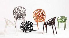 "Vitra Vegetal Stacking Chair | Ronan & Erwan Bouroullec 2008 | 32"" h | 23.75"" w | 21.75"" d | seat: 18"" h"