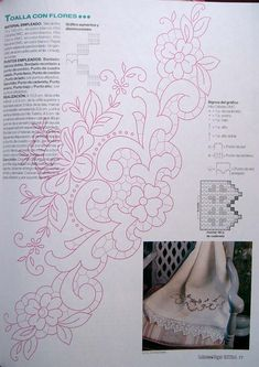 Embroidery Motifs, Vintage Embroidery, Filet Crochet, Crochet Doilies, Crochet Edging Patterns, Flower Quilts, Cut Work, Sewing Hacks, Coloring Pages