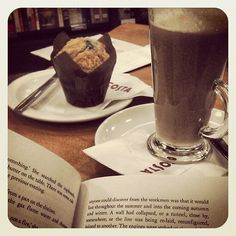 The best combination, Waterstones, Cinnamon Latte, Blueberry Muffin & my Book!!