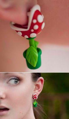 Soooo cool!  Love these earrings! #nintendo #mario