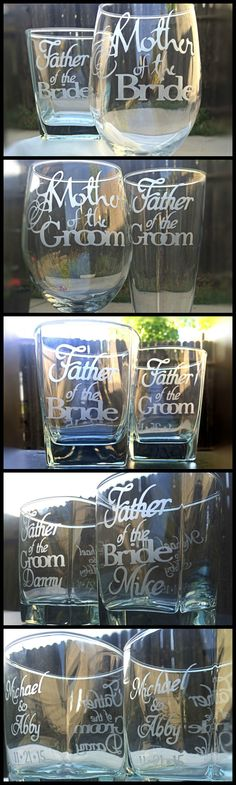 Did you remember to thank your parents for all they have done for your wedding day?  Share & Save this pin for a 10% code to use store-wide on all wedding glassware!  #weddings #engaged #bridal