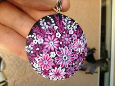 Gorgeous Flowers Pendant  polymer clay by Cherrychestnuts on Etsy, $40.00