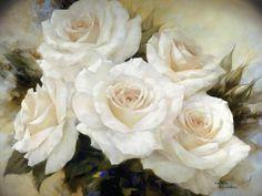 White Roses III Art Print