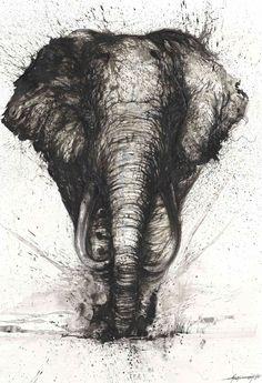 ¡Asombrosos retratos de animales hechos con pintura arrojada! | IsPop