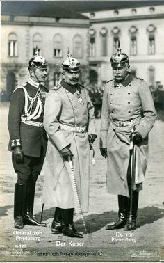 General Friedrich von Friedeburg, Kaiser Wilhelm II and General Karl Freiherr von Plettenberg.