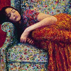 SLEEPY LEE, IRIS SCOTT. 36 x 36 Limited edition print. SALE!