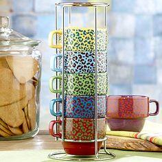 Stackable Cheetah Mugs