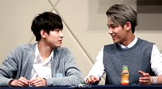 THE WAY THEY STARE AT EACH OTHER CAN GYU NOT? LOL