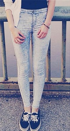 24a1a45c1781 Aliexpress.com   Buy High quality slim skinny pencil pants super stretch  high waisted snow wash jeans midnight tie dye jeans bottoms up for women  from ...