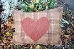 Totally Tartan - Sale Autumn Check with Burnt Orange Heart Tartan Cushion, £34.00 (http://www.totallytartan.net/sale-autumn-check-with-burnt-orange-heart-tartan-cushion/)