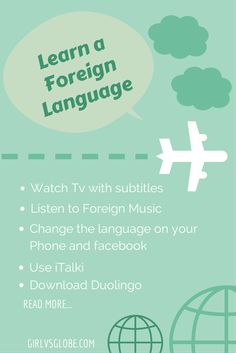 How to Learn a Foreign Language at Home Girl vs Globe