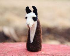 Llama Finger Puppet by PetitFelts on Etsy, $35.00