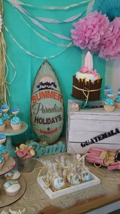 Miami Beach Theme Cupcakes Cake Pops Cookies