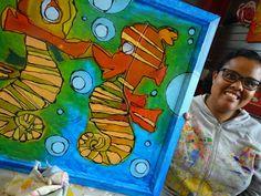 Andreia  trots op  haar schilderij