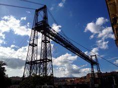 Puente colgante de Portugalete (Bizkaia). Foto iPhone.