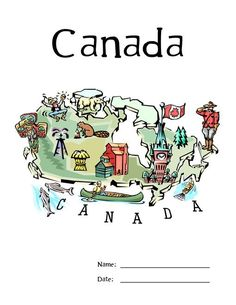 FREE Lapbook about Canada-good for unit study Social Studies Activities, Teaching Social Studies, Teaching Kids, Geography Of Canada, All About Canada, Canada For Kids, Canada 150, Canada Country, My Father's World