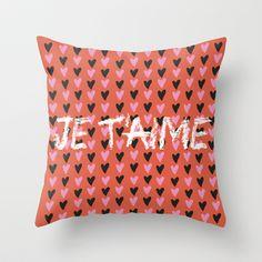 Je t'aime Throw Pillow by JoanaRosaC - $20.00