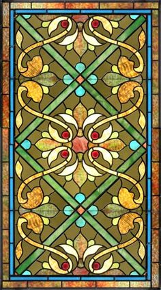 hollyhocks stained glass | William Morris Fan Club: Some Very Elegant Stained Glass