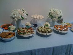 A cute baby shower buffet.