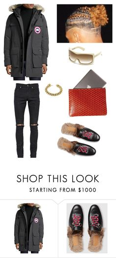 """Class 🏧"" by chawkideida ❤ liked on Polyvore featuring Canada Goose, Gucci, men's fashion and menswear"