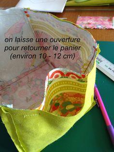 Je vous propose un nouveau tutoriel pour coudre un vide-poches de forme cubique comme celui-ci : tissu bachette Mondial Tissu Pour...