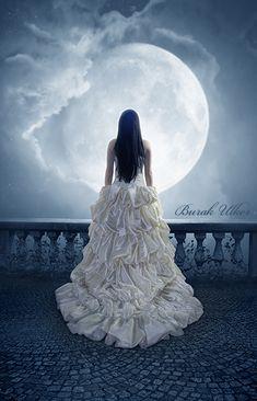 Dreamer by BurakUlker on DeviantArt Gothic Fantasy Art, Fantasy Photography, Photography Editing, Photography Tutorials, Creative Photography, Digital Photography, Portrait Photography, Beautiful Moon, Moon Art