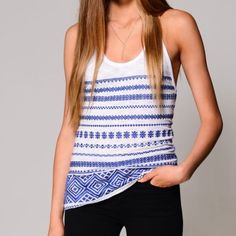 Sam Edelman white & blue tank top Brand new with tags. Sizes available: XS, S & M. Light, flowy, and a flattering fit. Trendy and cute! The embroidery is top notch! Sam Edelman white & blue tank top- SIZES: XS/S/M Sam Edelman Tops Tank Tops